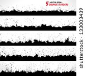 set of grunge borders. grunge... | Shutterstock .eps vector #133003439