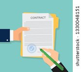 contract in flat style ... | Shutterstock .eps vector #1330048151