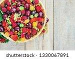 the child is picking cherries... | Shutterstock . vector #1330067891
