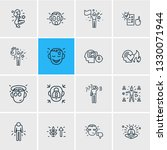 vector illustration of 16 emoji ... | Shutterstock .eps vector #1330071944