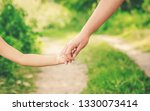 mom and daughter are walking... | Shutterstock . vector #1330073414
