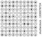100 needlework icons set in...   Shutterstock .eps vector #1330078724