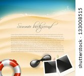 summer holiday background with... | Shutterstock .eps vector #133008515