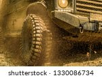 off road vehicle goes on... | Shutterstock . vector #1330086734