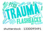 trauma word cloud on a white... | Shutterstock .eps vector #1330095491