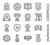 awards related line icon set....