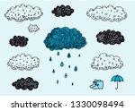 vector set of hand drawn doodle ...   Shutterstock .eps vector #1330098494
