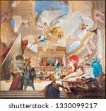 Small photo of VIENNA, AUSTRIA - JUNY 30, 2018: The fresco Glorification of the Renaissance in hall of The Knsthistorisches museum by Mihaly Munkacsy (1844 - 1900).