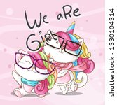 cute cat unicorn with glasses.... | Shutterstock .eps vector #1330104314
