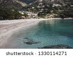 young woman on the shore of...   Shutterstock . vector #1330114271