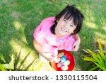 cute little asian child girl... | Shutterstock . vector #1330115504