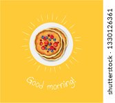 good morning banner with... | Shutterstock . vector #1330126361