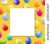 easter card with banner    Shutterstock . vector #1330126367