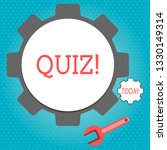 text sign showing quiz.... | Shutterstock . vector #1330149314