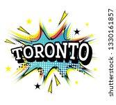 toronto canada comic text in... | Shutterstock .eps vector #1330161857
