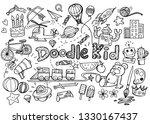 hand drawn kids doodle set... | Shutterstock .eps vector #1330167437