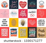 set of 20 vector motivational... | Shutterstock .eps vector #1330171277
