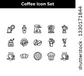 coffee icon set vector outline