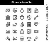 finance icon set vector outline