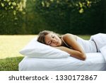 teenage girl sleeping on soft... | Shutterstock . vector #1330172867
