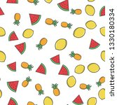 fruits color seamless pattern.... | Shutterstock .eps vector #1330180334