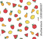 fruits color seamless pattern.... | Shutterstock .eps vector #1330180337