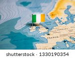 The flag of ireland in the...