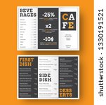 design of a trifold menu for... | Shutterstock .eps vector #1330191521