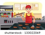 a vector illustration of a cook ... | Shutterstock .eps vector #133022069