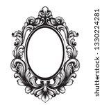 baroque mirror frame. vector...   Shutterstock .eps vector #1330224281