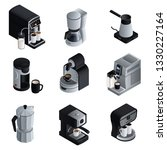 coffee maker icons set.... | Shutterstock .eps vector #1330227164