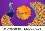 peacock bird concept banner.... | Shutterstock .eps vector #1330227191