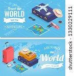 travel banners in isometric...   Shutterstock .eps vector #1330229111