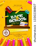 back to school text drawing by... | Shutterstock .eps vector #1330238807