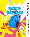back to school text drawing by... | Shutterstock .eps vector #1330238834