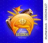 illustration of happy baisakhi... | Shutterstock .eps vector #1330246127