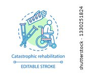 catastrophic rehabilitation... | Shutterstock .eps vector #1330251824