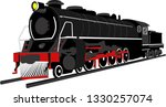large and powerful steam... | Shutterstock .eps vector #1330257074