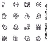 time management lineal icon set ...   Shutterstock .eps vector #1330259687