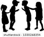 vector silhouette of children...   Shutterstock .eps vector #1330268354