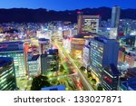 Kobe, Japan downtown district at Sannomiya. - stock photo
