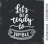 lets get ready to jumble hand...   Shutterstock .eps vector #1330280144