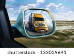 Truck In The Rear View Mirror