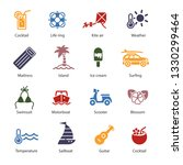 vacation icons set | Shutterstock .eps vector #1330299464