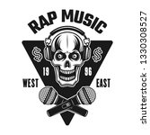 rap music vector emblem  badge  ... | Shutterstock .eps vector #1330308527