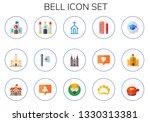 bell icon set. 15 flat bell... | Shutterstock .eps vector #1330313381
