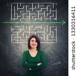confident woman in front of...   Shutterstock . vector #1330316411