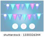 vector easter garlands with...   Shutterstock .eps vector #1330326344