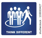 think different | Shutterstock .eps vector #133033427