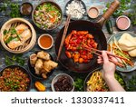set of assorted chinese dishes... | Shutterstock . vector #1330337411